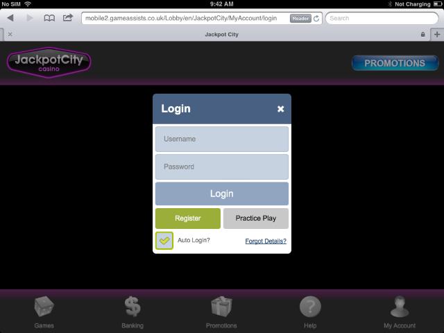 jackpotcity mobile login