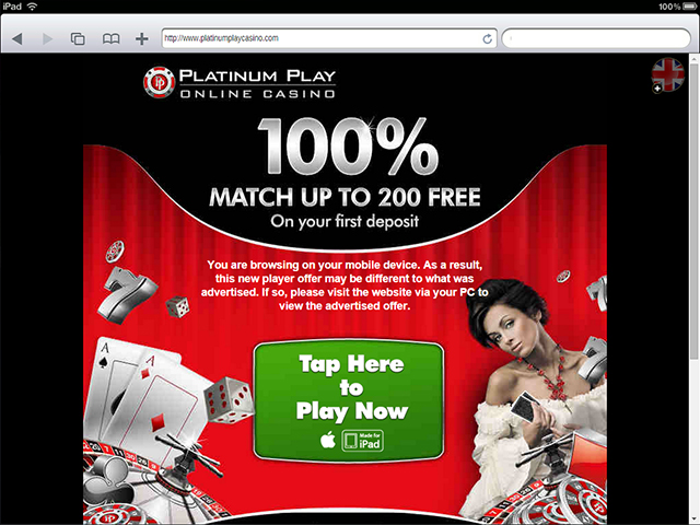 platinum play casino ipad